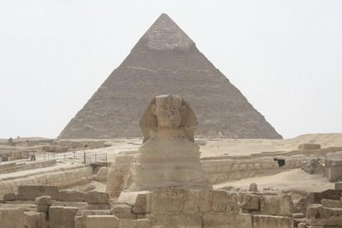 Ägypten - Chephren Pyramide und Sphinx