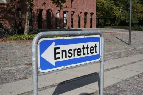 Einbahnstraße - Dänemark